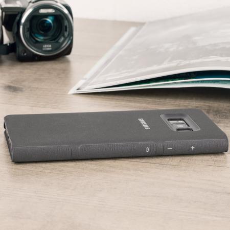 designer fashion 2c3a8 6d8e2 Official Samsung Galaxy S8 Plus LED Flip Wallet Cover Case - Black