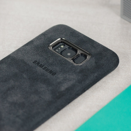best website 3c95f 8b2c7 Official Samsung Galaxy S8 Alcantara Cover Case - Silver / Grey
