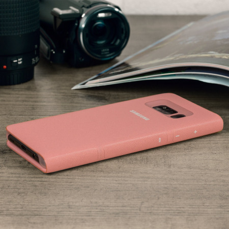 funda s8 plus samsung original led view cover