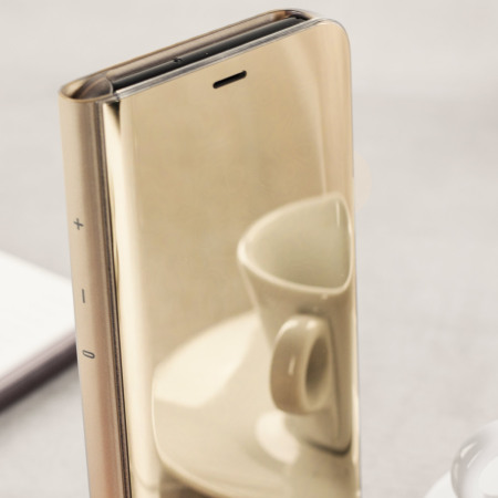 Official Samsung Galaxy S8 Plus Clear View Stand Cover Case - Gold