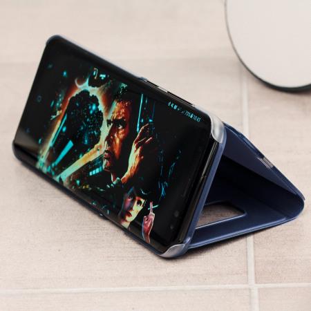 Funda Oficial Samsung Galaxy S8 Plus Clear View - Azul