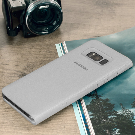 Official Samsung Galaxy S8 Plus LED Flip Wallet Cover - Silver