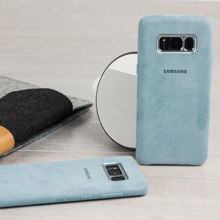 people official samsung galaxy s8 alcantara cover case silver grey also comes
