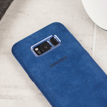official samsung galaxy s8 plus alcantara cover case blue irregularities occasionally occurred