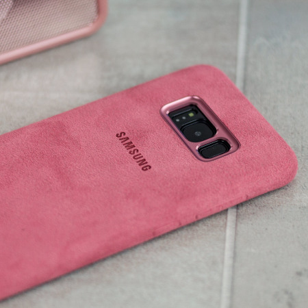 Coque Officielle Samsung Galaxy S8 Alcantara Cover Rose