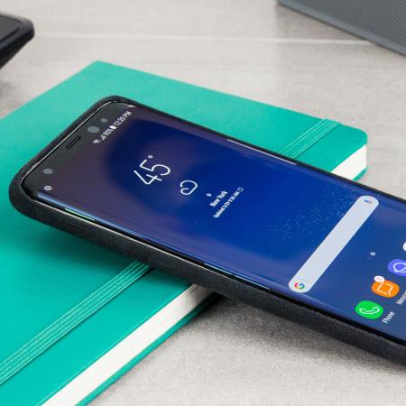 Official Samsung Galaxy S8 Plus Alcantara Cover Case - Silber