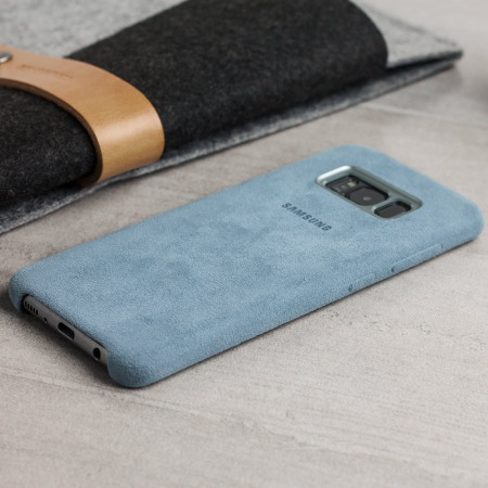official samsung galaxy s8 plus alcantara cover case blue reading: Android