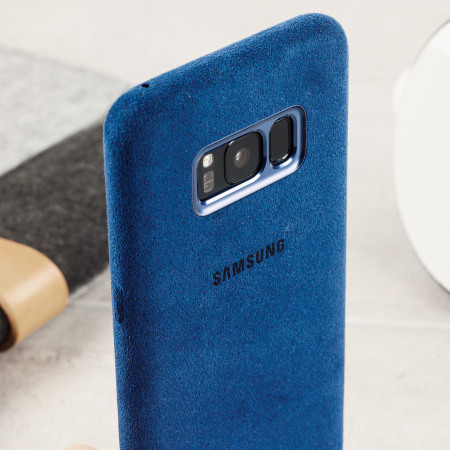 want official samsung galaxy s8 plus alcantara cover case blue Dharmahp-P