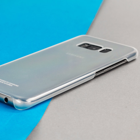 official samsung galaxy s8 clear cover case silver