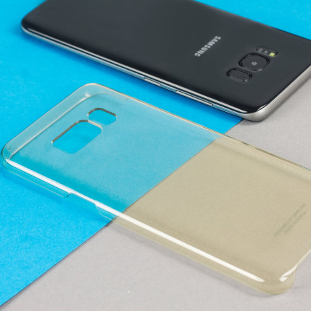 Official Samsung Galaxy S8 Plus Clear Cover Case - Gold