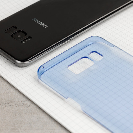 Official Samsung Galaxy S8 Plus Clear Cover Case - Blue
