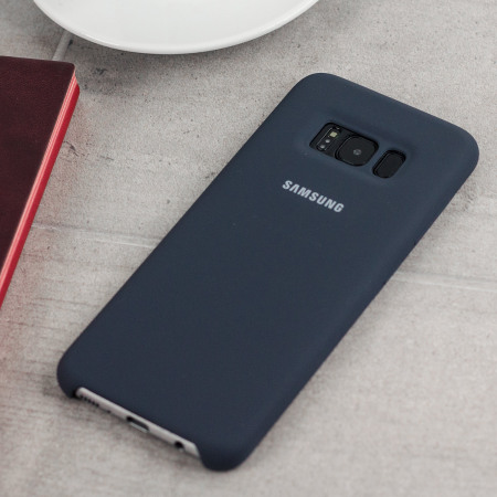 Official Samsung Galaxy S8 Plus Silicone Cover Case - Silver / Grey