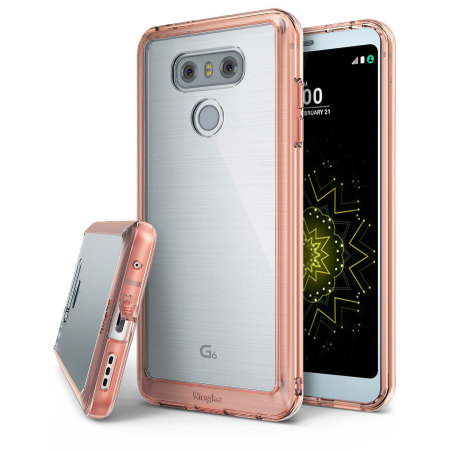 Rearth Ringke Fusion LG G6 Case - Rose Gold Crystal