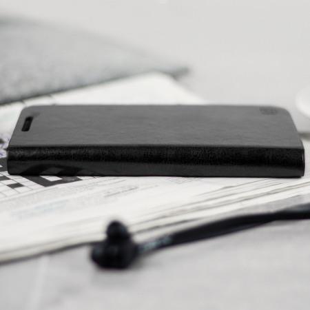Olixar Leather-Style Galaxy J3 2017 Wallet Case - Black - US Version