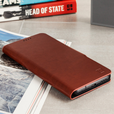 Olixar Leather-Style LG G6 Wallet Stand Case - Brown