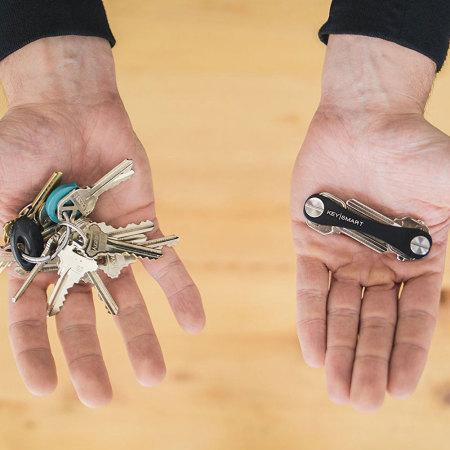 KeySmart kompakt nyckelhållare och arrangör - Svart