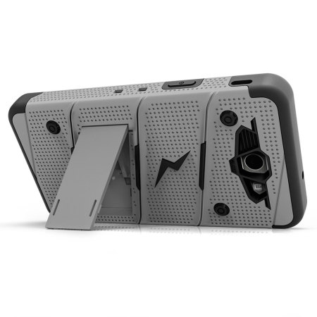 Zizo Bolt Series Samsung Galaxy J3 2017 Tough Case & Belt Clip - Grey