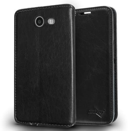 Zizo Leather Style Galaxy J3 2017 Wallet Case - Black - US Version