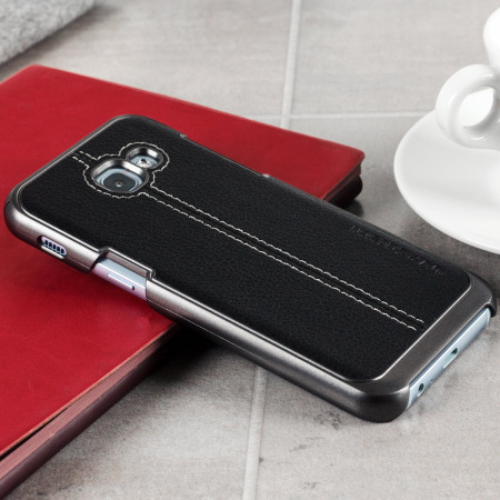 VRS Design Simpli Mod Leather-Style Samsung Galaxy A3 2017 Case- Black