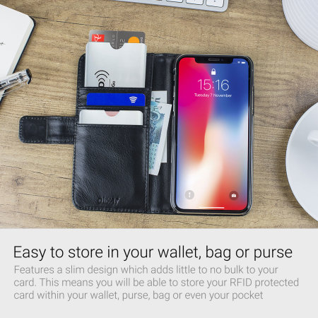 RFID Blocking Credit Card Data Theft Protection Sleeve