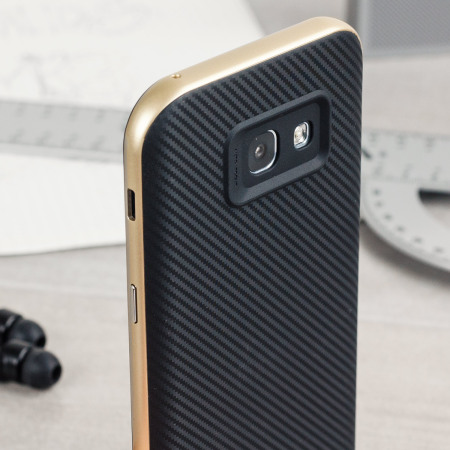 Olixar X-Duo Samsung Galaxy A5 2017 Case - Carbon Fibre Gold