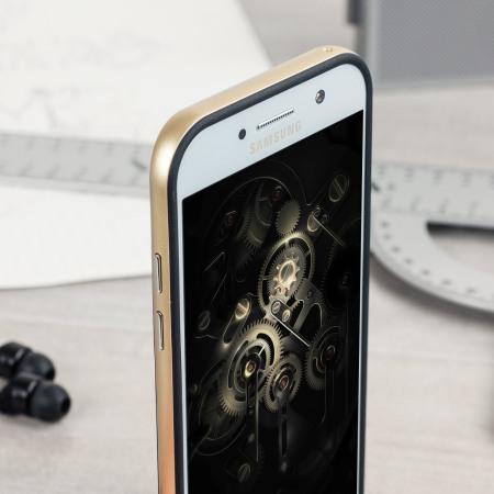 Olixar X-Duo Samsung Galaxy A5 2017 Kotelo – Hiilikuitu kulta