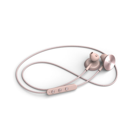 i.am plus Buttons Wireless Bluetooth Earphones - Rose Gold