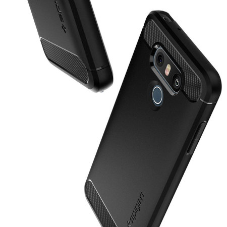 more photos e7045 b0c0b Spigen Rugged Armor LG G6 Tough Case - Black