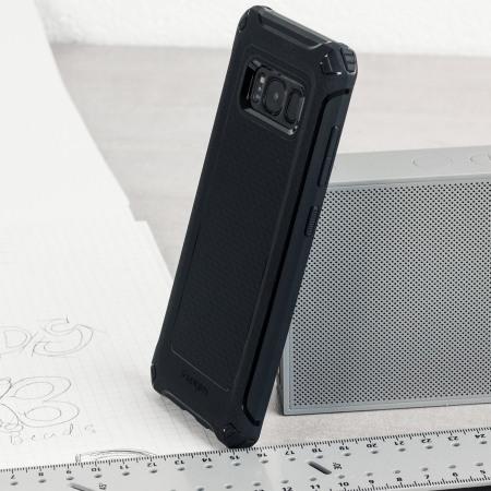 new concept c6b82 23e06 Spigen Rugged Armor Extra Samsung Galaxy S8 Tough Case - Black