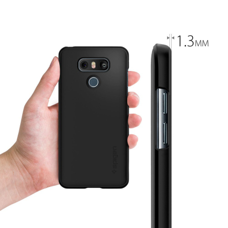 new style 351fe c7568 Spigen Thin Fit LG G6 Case - Black