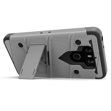Zizo Bolt Series LG G6 Tough Case & Belt Clip - Silver