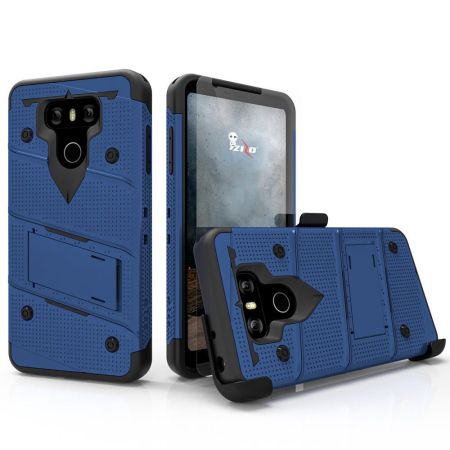 Zizo Bolt Series Lg G6 Tough Case Amp Belt Clip Blue