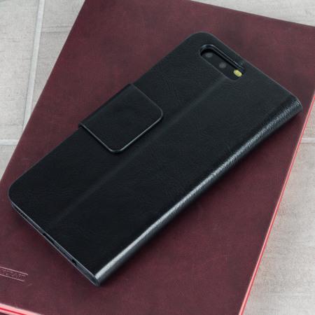 Olixar Leather-Style Huawei P10 Plånboksfodral - Svart