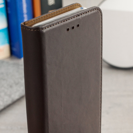 Olixar leather samsung galaxy s8 plus executive wallet case brown