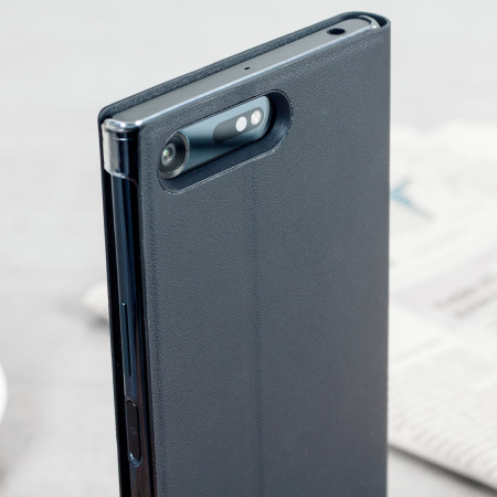 Official Sony Xperia XZ Premium Style Cover Stand Case - Black