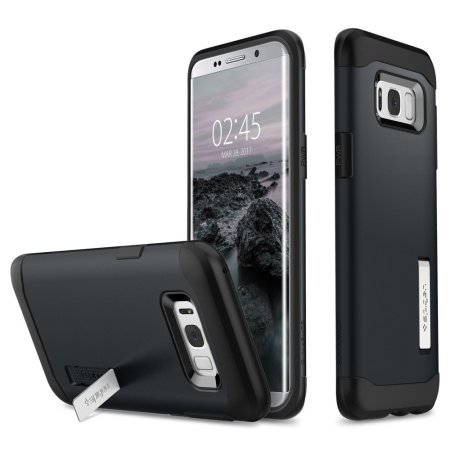 Spigen Slim Armor Samsung Galaxy S8 Plus Tough Case - Metal Slate