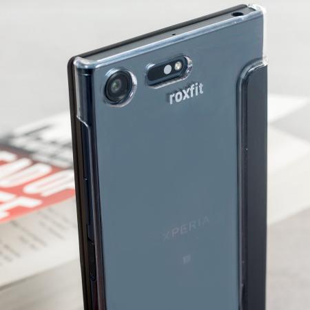100% authentic f6e44 a9173 Roxfit Sony Xperia XZ Premium Pro Touch Book Case - Black / Clear
