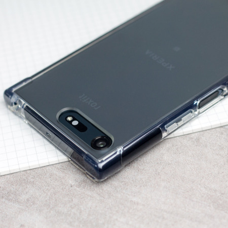 Roxfit Sony Xperia XZ Premium Pro Impact Gel Shell Case - Clear/Black