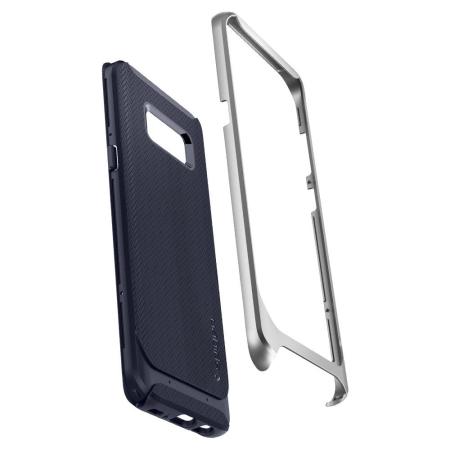 Spigen Neo Hybrid Crystal Case Samsung Galaxy S8 Plus Hülle  - Satin Silber