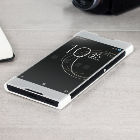 roxfit sony xperia xa1 pro touch book case   white
