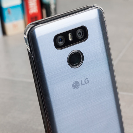 Official LG G6 Clear Cover Case - Platinum Silver