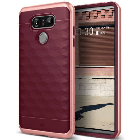 low priced 35c74 267e5 Caseology Parallax Series LG G6 Case - Burgundy