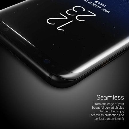 Olixar Galaxy S8 Plus Full Cover Glass Screen Protector - Black