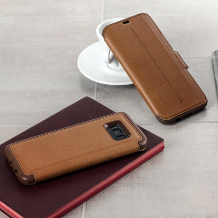 save off 24101 591b0 OtterBox Strada Samsung Galaxy S8 Case - Brown
