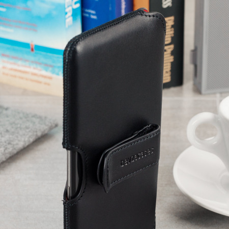 Beyza The Hook Samsung Galaxy S8 Genuine Leather Case - Black