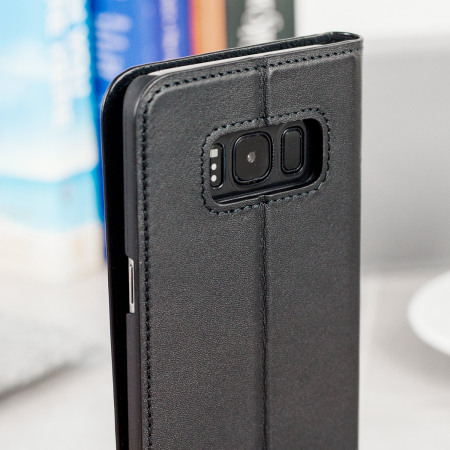 Beyza Arya Folio P Samsung Galaxy S8 Plus Leather Stand Case - Black