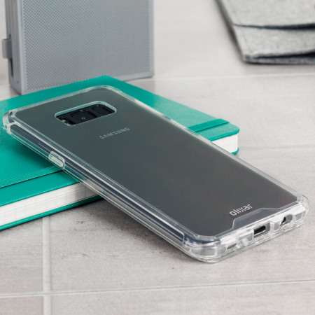 Olixar ExoShield Tough Snap-on Samsung Galaxy S8 Case - Crystal Clear