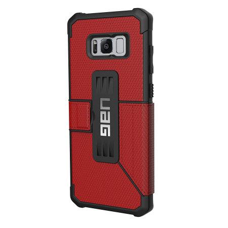 UAG Metropolis Rugged Samsung Galaxy S8 Wallet Case - Magma Red