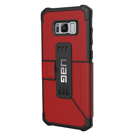 headphone uag metropolis rugged samsung galaxy s8 wallet case magma red