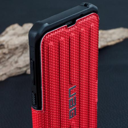 UAG Metropolis Rugged Samsung Galaxy S8 Plus Wallet case Tasche in Magma Rot